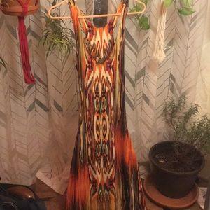 Multicolor tribal print maxi